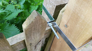 Fix a Wood Post to a Concrete Post - Various Sizes Available Inc All Fixings