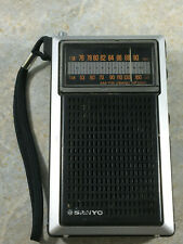 Sanyo RP-5055 AM FM Portable Pocket Radio - Works Great Japan