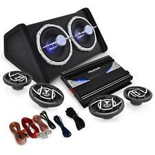 PACK SONO AUTO 4.1 SET CAR HIFI AMPLI 4 ENCEINTES 16,5CM DOUBLE SUBWOOFER 25CM