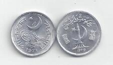 2 DIFFERENT 1 PAISE COINS from PAKISTAN DATING 1971 & 1979