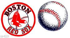"""3"""" BOSTON RED SOX BASEBALL SPORTS BALL SET  PREPASTED WALL BORDER CUT OUT"""