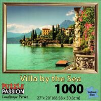 VILLA BY THE SEA 1000 Pc Jigsaw Puzzle by Puzzle Passion Landscape Series New