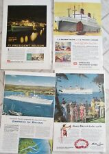 Lot 15 Vintage Cruise Lines Ads Advertising 1940's National Geographic Vacation