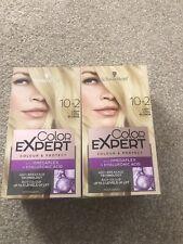 Schwarzkopf Hair Dye 10.2 Light Cool Blonde 2 Boxes