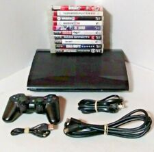 Sony PlayStation 3 PS3 Super Slim Console CECH-4001B 250GB 1 Controller 10 Games