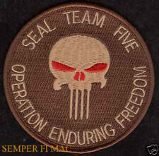 SEAL TEAM FIVE 5 PATCH US NAVY VETERAN GIFT PIN UP AFGHANISTAN PUNISHER SKULL