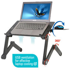 WonderWorker - Einstein Adjustable Laptop Stand with USB Port Mouse Pad Foldable