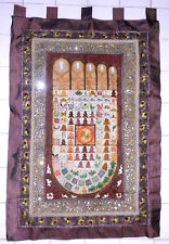 Antique GoldenTriang 00004000 le Hand-made Wall hanging Buddha Footprint Tapestry