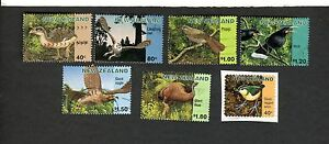 New Zealand SC #1394-99 PIOPIO HUIA WREN OWL ADZEBILL EAGLE used stamps