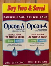 Opcon-A Eye Drops 15 ml 2 Count Pack Exp 06/20