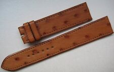GENUINE HERMES WATCH STRAP BAND TAN BROWN OSTRICH LEATHER 19 mm x 17 mm NEW