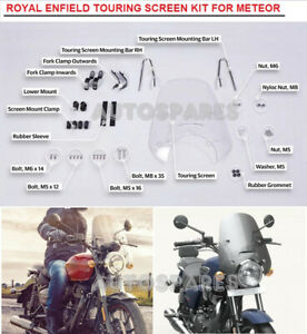 100% Genuine Royal Enfield METEOR Touring Screen Kit , Clear