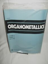NEW IN PACKAGE ~ ORGANOMETALLICS / AMERICAN CHEMICAL SOCIETY ~ JULY 1996