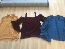 VELVET TOP SIZE 18 FROM QUIZ PLUS FREE ITEMS.