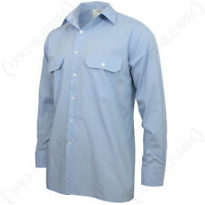 Original German Light Blue Service Shirt - Army Military Surplus Smart Button Up