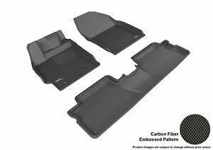For 2013-2015 Scion XB R1 R2 KAGU Carbon Pattern Black All Weather Floor Mat