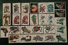 Vintage 1965 Topps Ugly Monster Trading Card Stickers Lot of 25