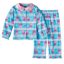 Peppa Pig Blue & Pink Flannel 2-Piece Pajamas Sleepwear Set Toddler Girl 2T NEW