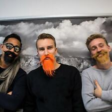 3 Selbstklebende Bärte Instant Beards Bart Set f Kostüm Karneval Party Fasching