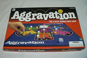 AGGRAVATION CLASSIC MARBLE RACE BOARD GAME