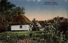 Russland Россия Russia AK ~1920 Russische Landschaft Krajobraz wiejski Dorf Haus