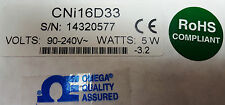 Omega CNi16D33; 90-240V; 5W; FREE Same Business Day Expedited Shipping!