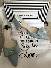 Neues AngebotLulu Guinness hellblaue Leder Helena Schuhe UK 5 EU 38 NEU