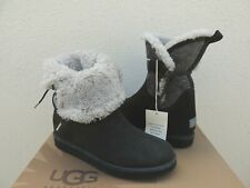 UGG COLLECTION BYANCA GRIGIO HIDDEN WEDGE SHEARLING BOOTS, US 6/ EUR 37 ~NEW