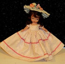 """Nancy Ann Storybook Doll Brunette Bisque w/Tagged Dress 5.5"""" Lovely"""