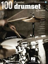 100 Essential Drumset Lessons Drum Instruction Book and Audio 000103628