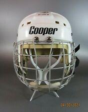 Vintage COOPER SK2500 M Senior Adult Hockey Helmet White Large W/ FM300 S Cage