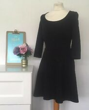 PEPPERBERRY Size UK 8 Dress Black Jersey Smart Dress Really Super Curvy D4