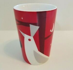 Starbucks Mug Christmas Holiday 2012 Coffee Cup Red Tall Bird Collectible 16 Oz