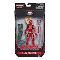 HASBRO DEADPOOL Marvel LEGENDS Lady Deadpool 6 inch figure SAURON BAF NEW!