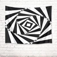 Black White Design Tapestry Home Wall Hanging for Living Room Bedroom Dorm Decor