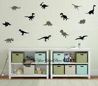 Set of 14 Pcs Dinosaur Wall Stickers Kids Nursery Boys Decor Removable Decal DIY