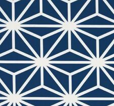 Duralee Thomas Paul Fabric Kyoto Sapphire Blue Bold Geometric Burst By The Yard