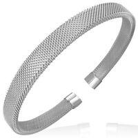 Bracelet homme en acier maillé Zense ZB0013 élastique