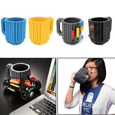 DIY Creative Brick Lego Puzzle Mug Coffee Cup Build-on Building Block Tea Cups