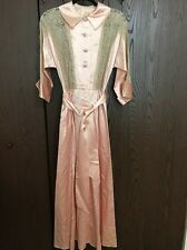 Vintage Satin And Lace Pink Dress Fashioned By Flobert