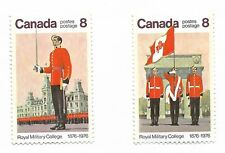 Stamps Canada Royal Military College centenary Canadian Army uncancelled
