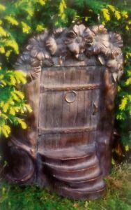 Large 51cm Fairy Door Garden Ornament Statue Bronze Effect Frost Proof