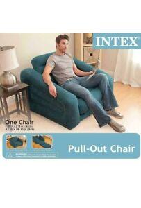 Chair Bed Folding Convertible Flip Sleeper Game Lounger Mattress Ocean Blue GIFT
