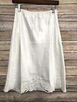 Vtg Cabernet Half Slip White Soft Silky Slippery Satiny Polyester Size Small