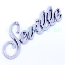 80-91 Cadillac Seville Script Emblem Nameplate Badge Rear Trunk Door Fender Logo