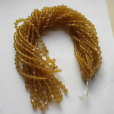 104 x 6mm 2 Strands Beautiful Glass Crystal Bicone Beads In 7 Colours UK Seller