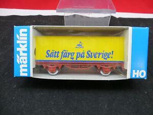 Märklin 4483 Containerwagen Sätt färg pa Sverige! NEUWERTIG
