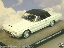 1/43 JAMES BOND 007 1964 FORD THUNDERBIRD IN WHITE FROM GOLDFINGER SEAN CONNERY