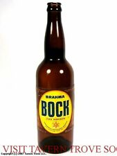 1950s Brazil Brahma Bock Munchener 24oz Beer Bottle Tavern Trove
