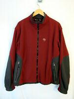 vtg Mountain Hardwear Men's Polartec Fleece Jacket Sz XL USA made red gray!
